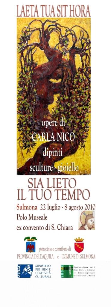 locandina Carla Nico. Sulmona