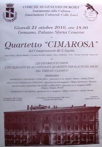 21 ottobre 2010.Genzano.Quartetto Cimarosa