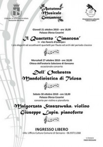 autunno musicale Genzanese